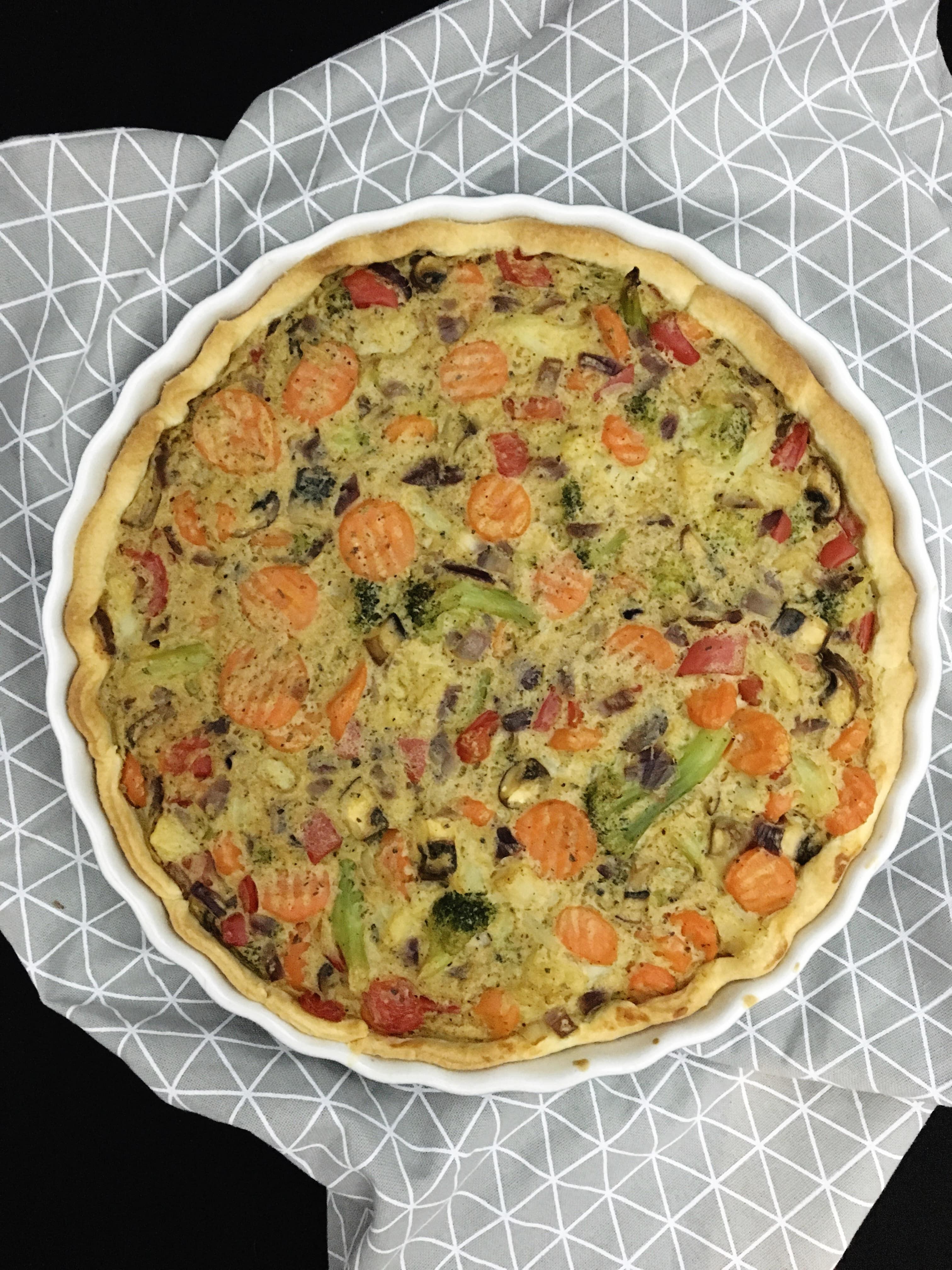Vegane Gemüsequiche