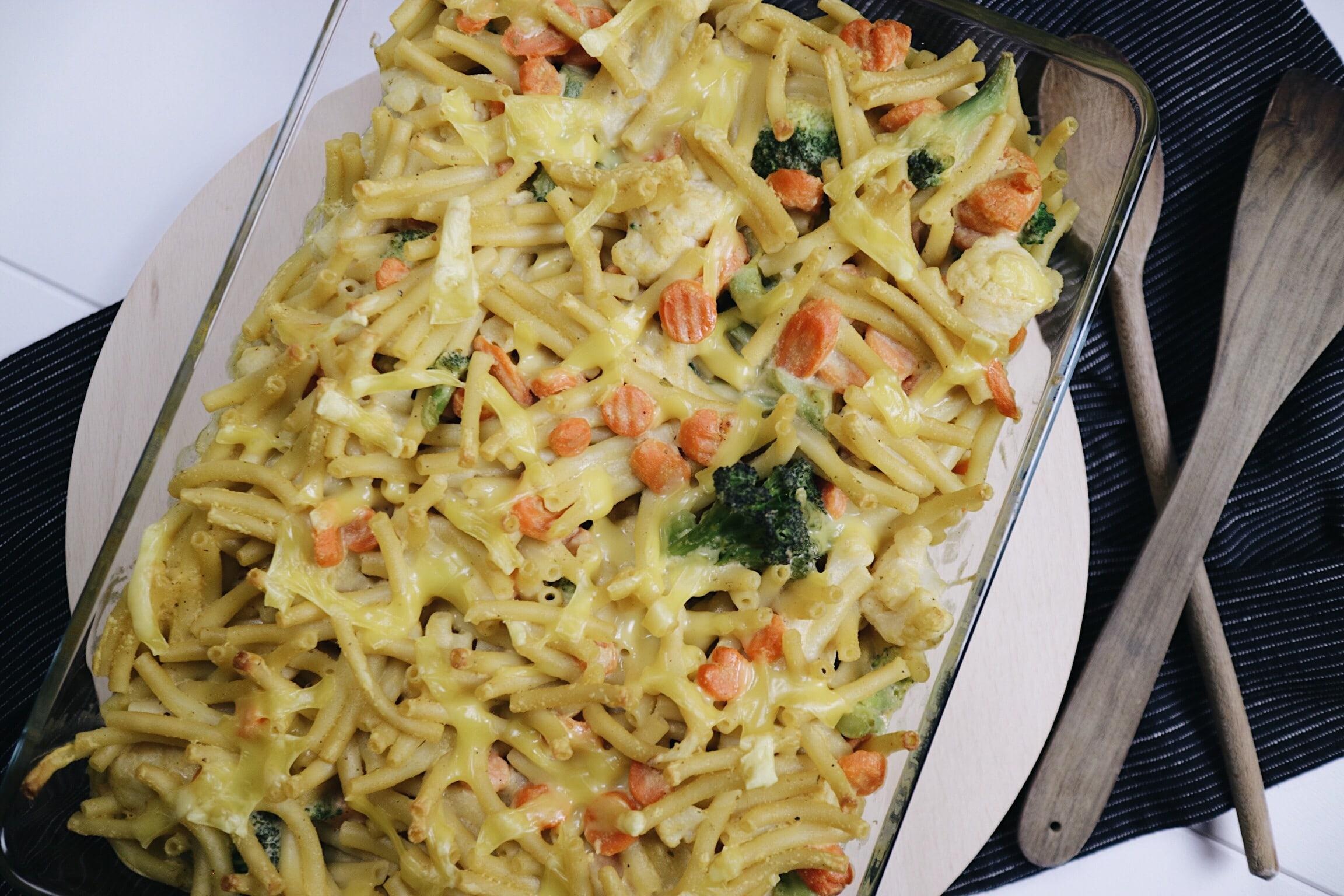 Veganer Mac 'n' Cheese-Auflauf
