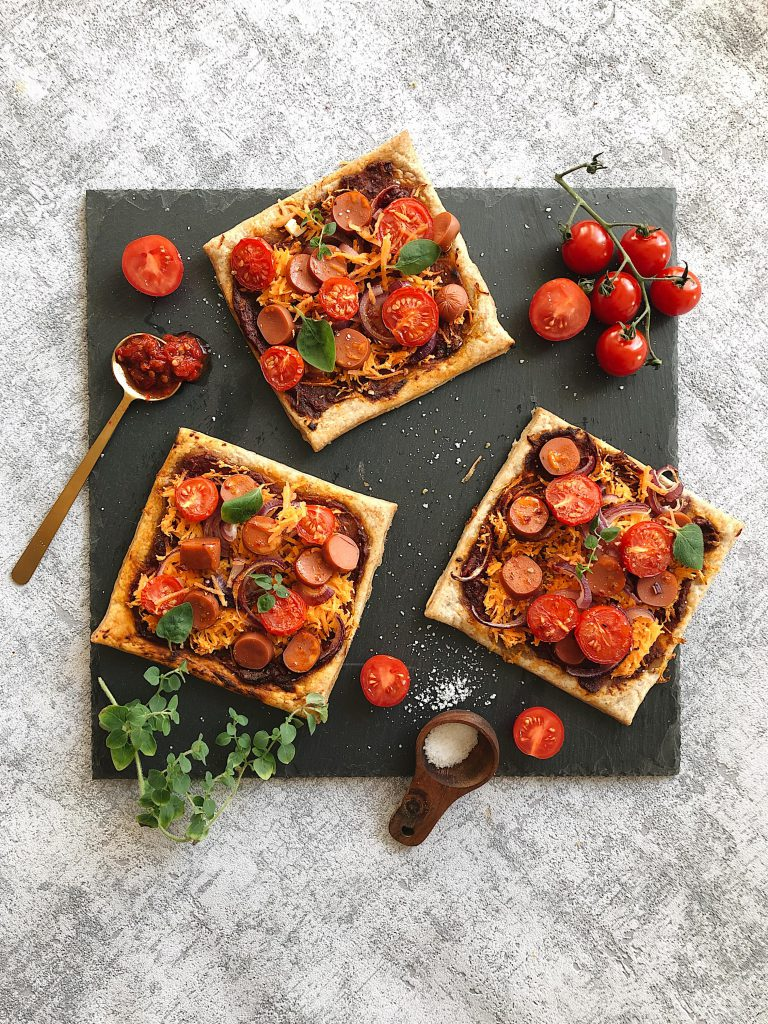 Blätterteigpizza vegan