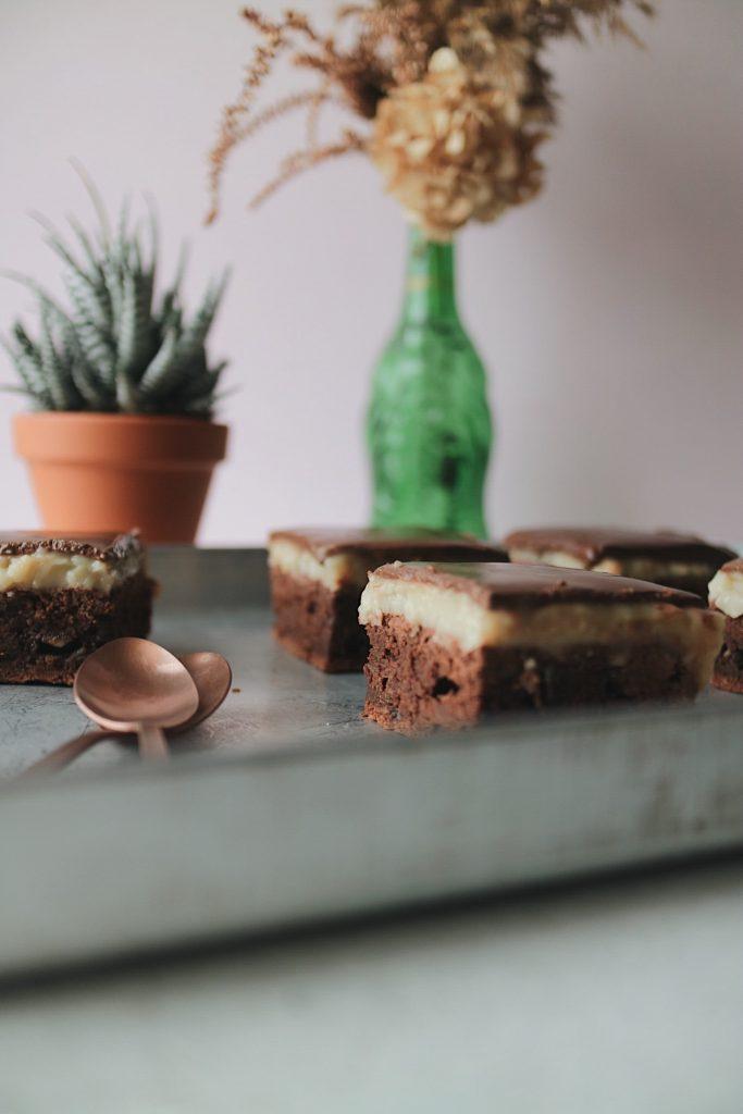 Schoko-Vanille Puddingkuchen