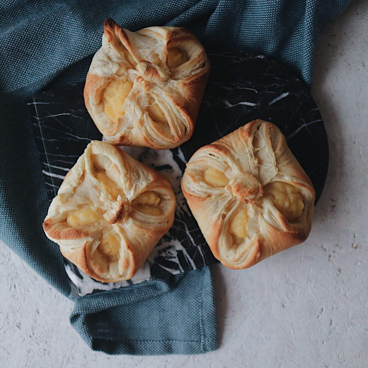 Vegane Puddingteilchen wie vom Bäcker
