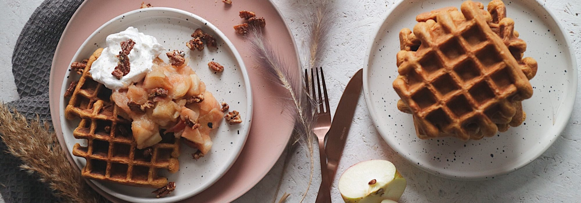 Vegane Kürbiswaffeln – ein wahrer Herbsttraum