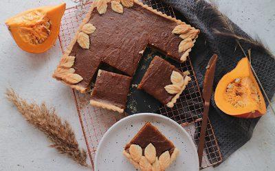 Veganer Pumpkin Pie angeschnitten