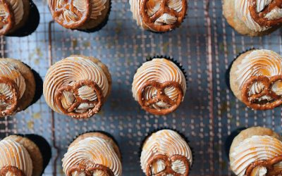 vegane sesam-brezel-cupcakes